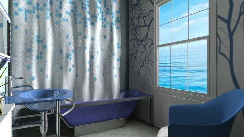 Blue - Modern - Bathroom  - by milyca8