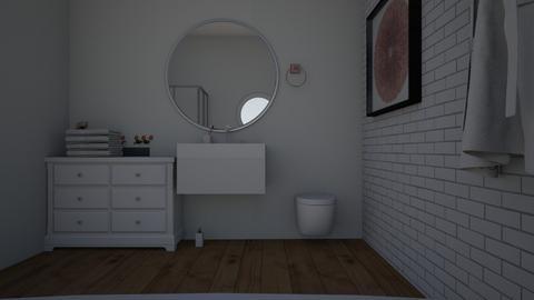 Bedroom w bathroom  - Glamour - Bedroom - by BobbiF01