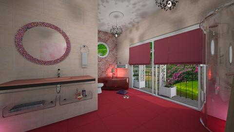 Cherry Blossom Bathroom - Bathroom  - by nat mi