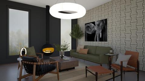 Dark n Moddy No4 - Masculine - Living room  - by SunflowerStudios