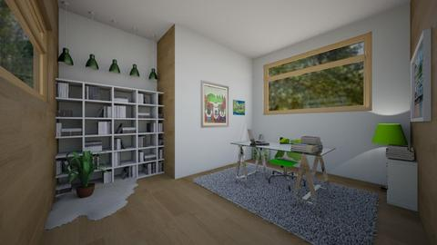 Playful Office with Green - Office - by ilikalle
