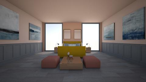 pastel bedrrom - Bedroom  - by belle alderton