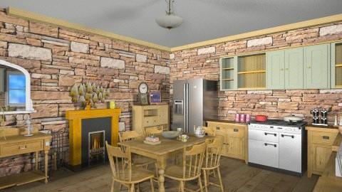 Quebec Rustic Kitchen - Rustic - Kitchen  - by Velleri