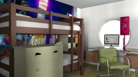 Sony Boys Bedroom - Retro - Kids room  - by lamin_agatha
