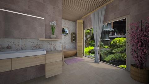 Cherry Blossom Bathroom - Bathroom  - by milica tanurdzic