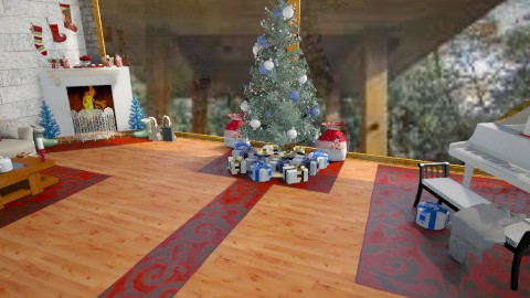 Blue Christmas Paradise - Modern - Living room - by AshiraLevana