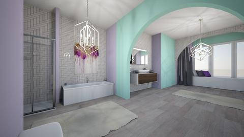 Lavender bath - Bathroom  - by Meg_
