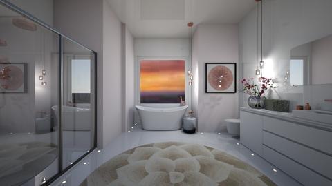Rose Gold Bathroom - Feminine - by FabulousGirl35