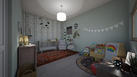 baby room  - Vintage - Kids room  - by makennaf