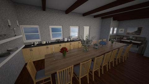 Edain Golden - Rustic - Kitchen  - by emivim