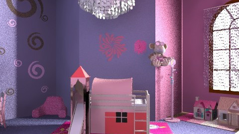 Purple and pink fairy tale - Glamour - Bedroom - by anniebannanie