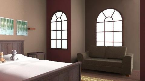Bedroom 3 - Rustic - Bedroom  - by zombiepanda