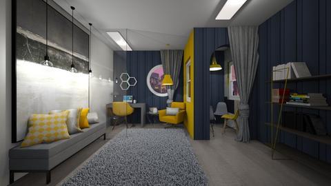 Yellow Workspace - Office  - by MackenziePaige