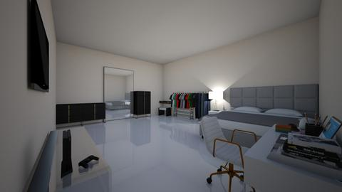 bedroom _modern_ i think - Modern - Bedroom  - by 1D wolfgal