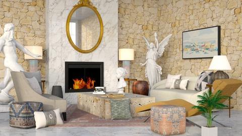 Roman Glam - Living room  - by millerfam