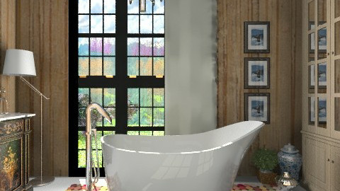 Amalfi Wood Bathroom - Eclectic - Bathroom  - by 3rdfloor