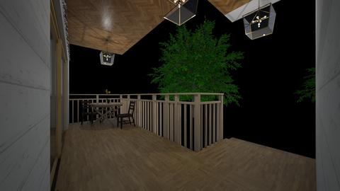Small Wood Patio  - Glamour - Garden  - by SwiftLyDesigns