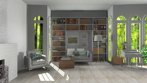 reading room in forest - by agafrutek