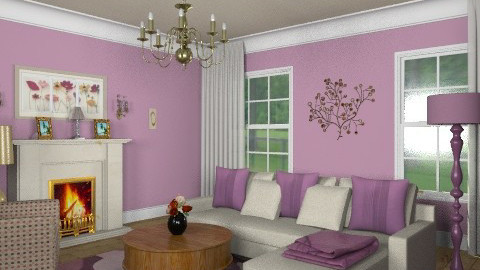 Plum crazy - Classic - Living room  - by alleypea