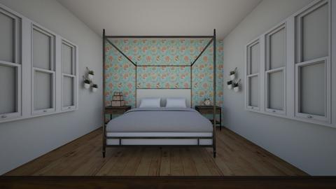Modern Rustic Bedroom - Rustic - Bedroom  - by Abigaildockstader001
