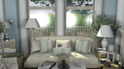 Pastel Lounge - Classic - Living room - by laurawoodley