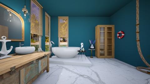 Nautical Bathroom - Bathroom  - by ATHENANn