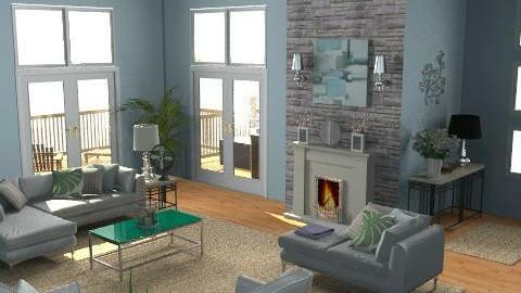 Modern Beach House - Modern - Living room - by wwrightsc