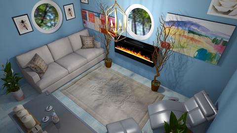 blu living area - Living room - by iamabby_12
