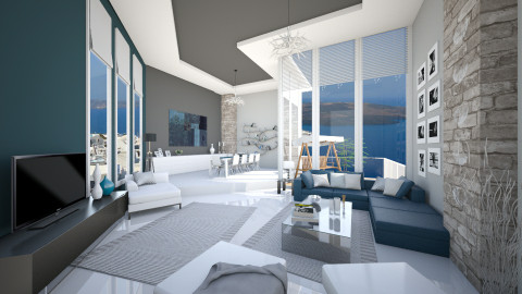petrolgreywhite love - Modern - Living room  - by Senia N