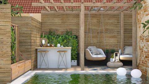 Modern Pool - Garden - by lola loliitaaa
