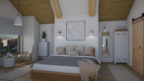 Scandi Loft - Bedroom  - by Nicky West