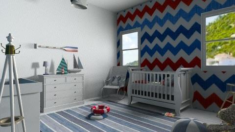 navy nursery - Kids room  - by sofia95