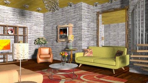 Living room loft - Retro - Living room  - by wiljun