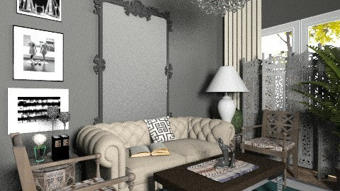 Grey Living - Eclectic - Living room  - by hunny