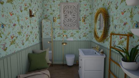 Floral toilet decor - Bathroom  - by hmm22