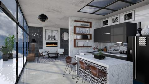 Mid Century Modern Mono - Kitchen  - by AlocinB