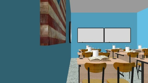 Spanish Classroom - Classic - Office  - by Morgan Brueckner
