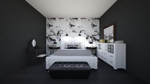 black n white - Modern - Bedroom  - by Mila dimitrova