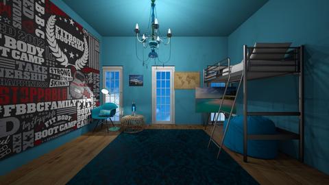 blue bedroom - Bedroom  - by MomoBeag