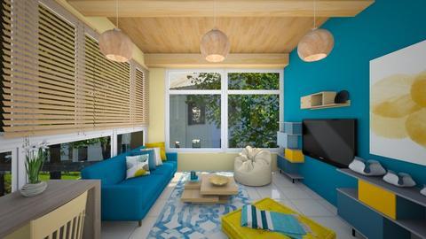 Air BnB - Retro - Living room  - by aggelikimar