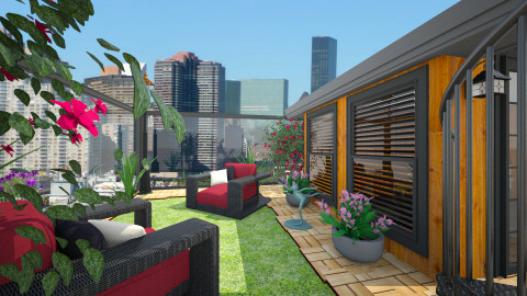 Rooftop Greenery  - Garden  - by janelle1