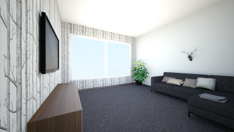 simple living room - Minimal - Living room  - by stellaralphs