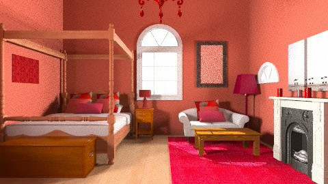 RED - Country - Bedroom - by 89dudes