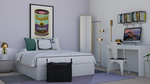 purple - Modern - Bedroom - by molly_designs