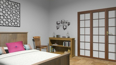 proyecto final dormitorio niñera - Rustic - Bedroom  - by alejandrina