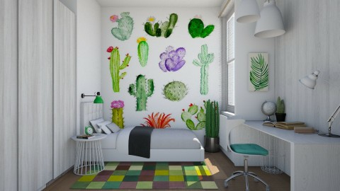 Little cactus - Kids room - by Liu Kovac