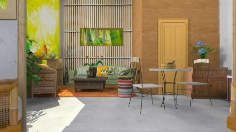 Forest living 1 - Glamour - Living room - by pachecosilv