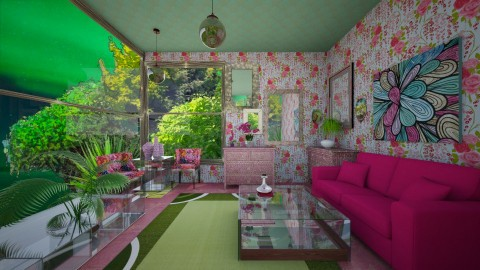 Greenery - Glamour - Living room  - by lori gilluly