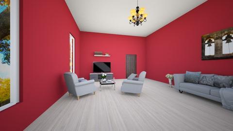 living room correct - Classic - Living room  - by zosiawojcik