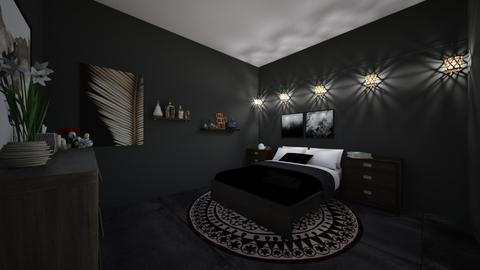 Dark room design - Bedroom  - by Puppylover5673